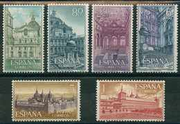 ESPAÑA 1961. Edifil **1382/87 - Real Monasterio De San Lorenzo De El Escorial - 1961-70 Nuevos & Fijasellos