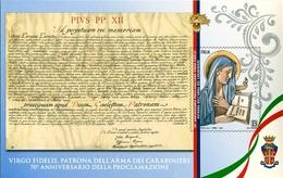 Italia Repubblica 2019 Foglietto Virgo Fidelis Euro 1,10 MNH** Integro - 6. 1946-.. República