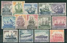 ESPAÑA 1964. Edifil **1599/1612 - Homenaje A La Marina Española - 1961-70 Nuevos & Fijasellos
