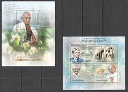 ST1283 2013 GUINE GUINEA-BISSAU ANNIVERSARY MAHATMA GANDHI KB+BL MNH - Mahatma Gandhi