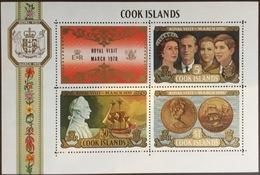 Cook Islands 1970 Royal Visit Minisheet MNH - Islas Cook