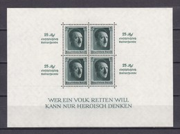 Deutsches Reich - 1937 - Michel Nr. Block 9 - BPP Signiert - Allemagne
