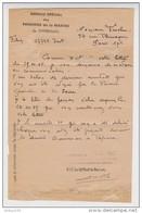 DOCUMENT MILITAIRE OFFICIEL POSTE NAVALE 31/10/1945 Mr TROCHU - BUREAU SPÉCIAL DES PENSIONS DE LA MARINE DE CHERBOURG - 1939-45