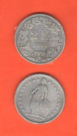 2 Francs 1894 A Franchi Suisse Schweiz Svizzera Switzerland - Svizzera
