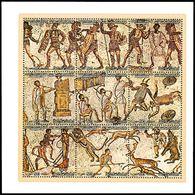 LIBYA 1983 Mosaics Mosaic Roman Rome Archaeology Art (m/s MNH) - Archäologie