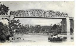 35 Les Bords De La Rance Le Pont Lessard Bateau A Vapeur Animée - Frankreich
