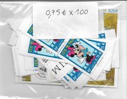 Lot De 100 Timbres Neufs à 0,75 Euro, Valeur Faciale Totale 75 Euros, Voir Photo - Francia