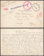 Belgique Stalag 212 - Envoi Sur Bristol, Format CP Via Bureau De Poste De Charleroi Du 05-12-1940 (VG) DC4712 - Guerra 40 – 45