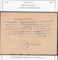 Belgique Stalag IA - Lettre De Créance De 4R.M.(VG) DC4718 - Guerra '40-'45
