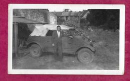 PHOTO 11,5 X 7 Cm...Automobile Allemande WW 2 VOLKSWAGEN KÜBELWAGEN à BERJOU (Orne 61) - Automobiles