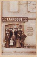 B81186 Rare RIEUMES (31) LARROQUE Oeufs-Volailles-Gibiers Vin De GAILLAC Enseigne Peinte FAILLIERES Carte-Photo 1910s - France