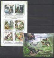 BC1072 2011 MOZAMBIQUE MOCAMBIQUE FAUNA ANIMALS BATS MORCEGOS 1SH+1BL MNH - Fledermäuse