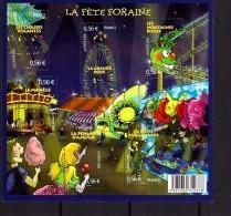 France Bloc Feuillet F4378 2009 Luxe ** La Fete Foraine Grande Roue Pomme Amour Chaises Volantes - Nuovi