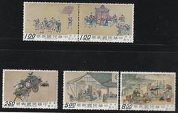 "TAIWAN (FORMOSE) - N°655/9 ** (1969) Peinture Sur Rouleau ""ville De Chine"" - Ungebraucht"