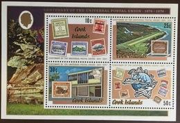 Cook Islands 1974 UPU Minisheet MNH - Islas Cook