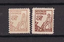 Mecklenburg-Vorpommern - 1945 - Michel Nr. 15 A/b - 31 Euro - Zone Soviétique