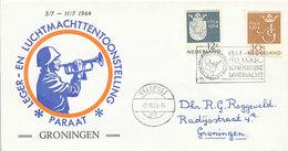 DC-2265 COVER NETHERLANDS 1964 - SPEC. POSTMARK - 150 YEARS KONINKLIJKE LUCHTMACHT VELDPOST - Postal History