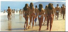 RIO DE JANEIRO .belles Filles Praia De Ipanema Beach .22.5/10.5 Cm- Voir Detail Annonce Recto/verso - Rio De Janeiro