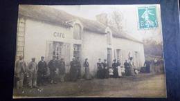 Carte Photo D'un Café Environs De Sillé Le Guillaume, St Rémy, Le Grez, Rouessé Vassé, Pezé Le Robert, Crissé, Rouez,... - Francia