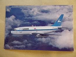 LUXAIR  B 737- 200   AIRLINE ISSUE / CARTE COMPAGNIE - 1946-....: Era Moderna