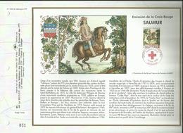 N° 1226 DU CATALOGUE CEF . CROIX ROUGE FRANCAISE . 13 MAI  1995 . SAUMUR . - FDC
