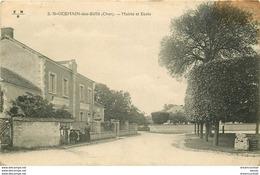 WW 18 SAINT-GERMAIN-DES-BOIS. Mairie Et Ecole 1916 Trace Coin Droit... - France