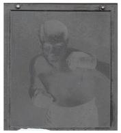 Plaque D'imprimerie BOXEUR FELIX WOUTERS  CHAMPION DE BELGIQUE ET D'EUROPE DES POIDS WELTERS EN 1935 - Other Collections
