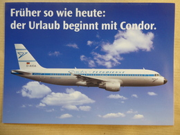 CONDOR  AIRBUS  A 320   AIRLINE ISSUE / CARTE COMPAGNIE - 1946-....: Modern Era