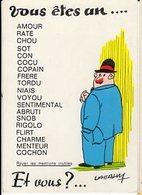 Illustrateur LASSALVY - Vous Etes Un.... Rayez Les Mentions Inutiles... - CP Sans N° - Lassalvy