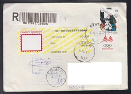 REPUBLIC OF MACEDONIA, 1996, R-COVER, MICHEL 66 - OLYMPIC GAMES SALT LAKE CITY-BOXING ** - Boxen