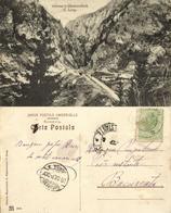 Romania, Intrarea In Dămbovicioră, C. Lung (1913) Postcard - Roemenië