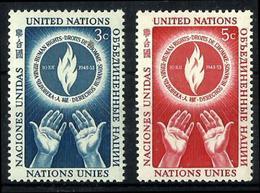 O.N.U. Nueva York Nº 21/22 Nuevos. Cat.10,90€ - New York - Sede De La Organización De Las NU