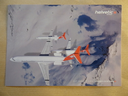 HELVETIC   FOKKER 100     AIRLINE ISSUE / CARTE COMPAGNIE - 1946-....: Moderne
