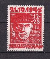 Mecklenburg-Vorpommern - 1945 - Michel Nr. 22 A - BPP Gepr. - 40 Euro - Zone Soviétique