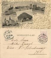 Romania, DEVA DÉVÁRÓL, Hunedoara County Prefecture Square Church (1899) Postcard - Roemenië