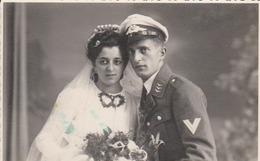 Photo Originale Ww2 Allemande      Mariage     Soldat Allemand   Aviateur  !!    Beau Cliche - Guerre, Militaire