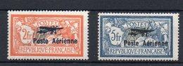 FRANCE :  PA .N°1 *. N° 2 * TB .1927 . SIGNE CALVES .  ( CATALOGUE YVERT ) . - Marcophilie (Timbres Détachés)