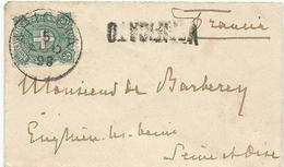 LETTRE 1898 AVEC CACHET ARICCIA ET VERIFICATO - 1878-00 Umberto I