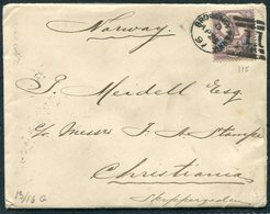 1891 GB Broughty Ferry Duplex Cover - Christiania Norway Via Dundee - Storia Postale