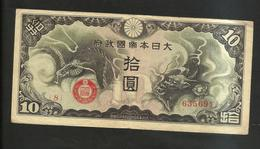 WWII - CINA / CHINA - Japanese Occupation 10 Yen (1940) - Cina