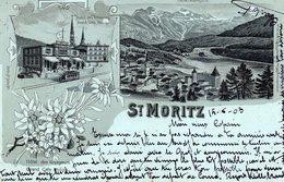 CPA    -   ST MORITZ   -    MULTIVUES   -   1903 - GR Grisons