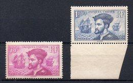 FRANCE : N° 296** . N° 297 ** . TB .1934 . SIGNE CALVES .  ( CATALOGUE YVERT ) . - 1921-1960: Modern Period