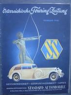 Österreichische Touring Zeitung - Februar 1935 - - Automobile SS-Wagen - Auto En Transport