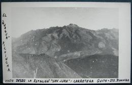 El Guagua Pichincha Visto Desde La Estacion San Juan Carretera Quito-Sto Domingo - RPPC. Ecuador IN3/04 - Ecuador
