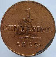 Italy 1 Centesimo 1822 M F - Monnaies Régionales