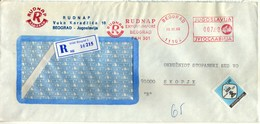 Yugoslavia Letter 1990 - Red Machine Stamp And Slogan/flamme - RUDNAP - 1945-1992 Repubblica Socialista Federale Di Jugoslavia