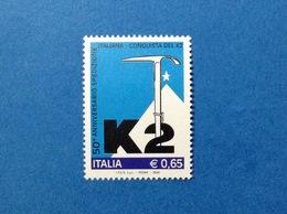 2004 ITALIA MONTAGNA SPEDIZIONE K2 FRANCOBOLLO NUOVO STAMP NEW MNH** - 6. 1946-.. Repubblica