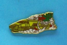 1 PIN'S //   ** TGV / NOËL DES CHEMINOTS / NANCY 91 ** . (Made In France Doré à L'OR FIN) - TGV