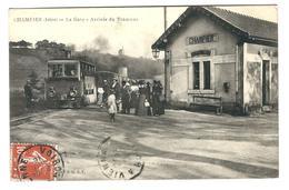 38 - Champier - La Gare - Arrivée Du Tramway - Belle CPA - 1918 - Cachet Ligne Vienne à Voiron. - Autres Communes