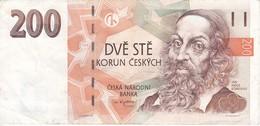 BILLETE DE LA REPUBLICA CHECA DE 200 KORUN DEL AÑO 1998  (BANKNOTE) - Repubblica Ceca